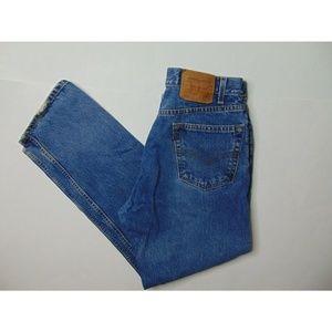 Vintage Levi's 505 34 X 30 Straight Leg Blue Jeans